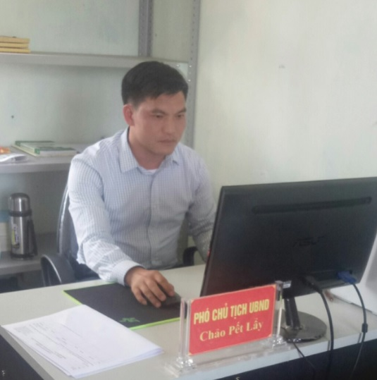 Anh Chảo Pết Lẩy, Chủ nhiệm CLB bình đẳng giới xã Trung Chải, huyện Sa Pa, tỉnh Lào Cai