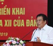 Ông Sơn Minh Thắng, ủy viên Trung ương Đảng, bí thư Đảng ủy Khối các cơ quan Trung ương quán triệt các nội dung Hội nghị Trung ương 10 Khóa XII