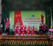 Tiết mục tiếng chuông bản Dao của con em đồng bào dân tộc Dao Thanh Phán, xã Đồng Lâm chào mừng Đại hội Đại biểu các DTTS huyện Hoàng Bồ (Quảng Ninh).