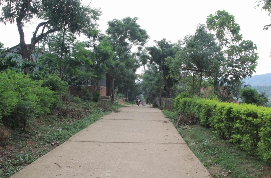 Ở Tây Nguyên tên mỗi buôn làng đều có ý nghĩa riêng, mang bản sắc của đồng bào. (Trong ảnh: Một góc làng Kon Rơ Ngang, xã Đăk Ui, huyện Đăk Hà