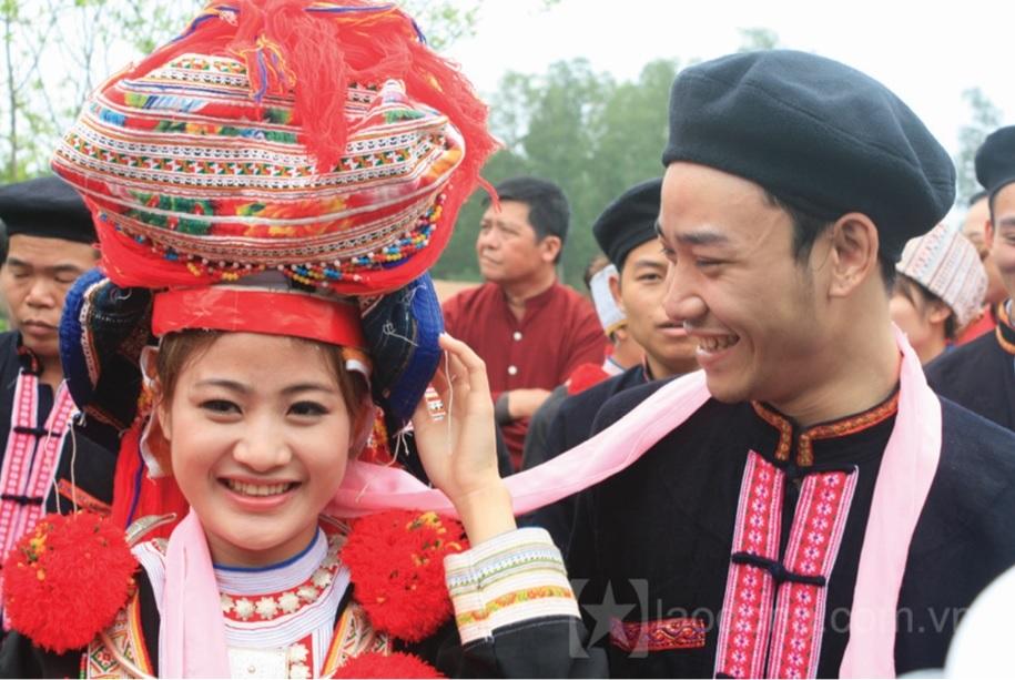 Hình ảnh đẹp trong lễ cưới người dân tộc Dao.