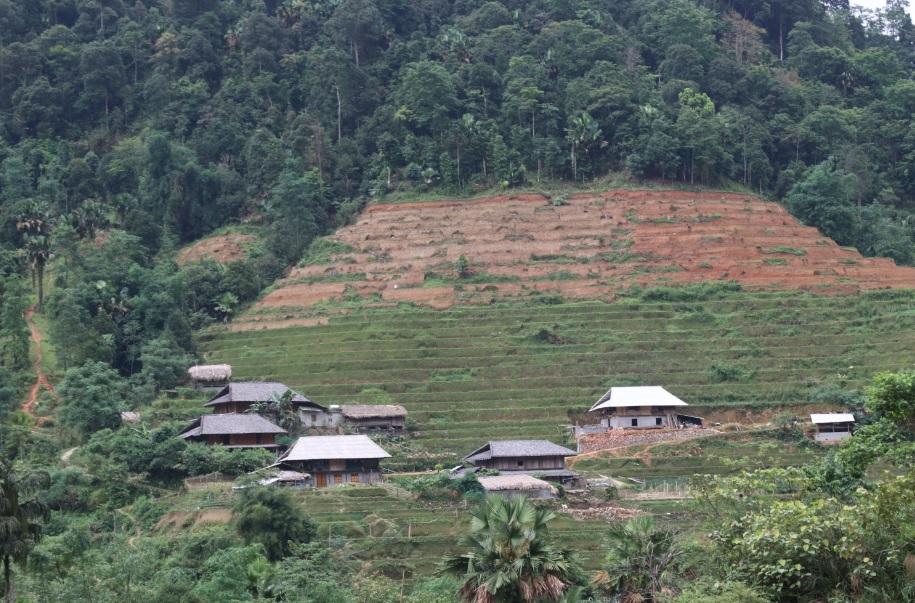 Một góc bản làng ở Cao Bồ (Vị Xuyên, Hà Giang).
