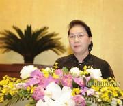 Chủ tịch Quốc hội Nguyễn Thị Kim Ngân phát biểu bế mạc kỳ họp thứ 7, Quốc hội khóa XIV.
