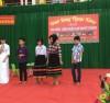 Một buổi học ngoại khóa của các em học sinh DTTS Trường DTNT huyện Lập Thạch.