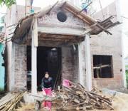 Một hộ dân người DTTS đã có tiền xây dựng nhà nhờ xuất khẩu lao động.