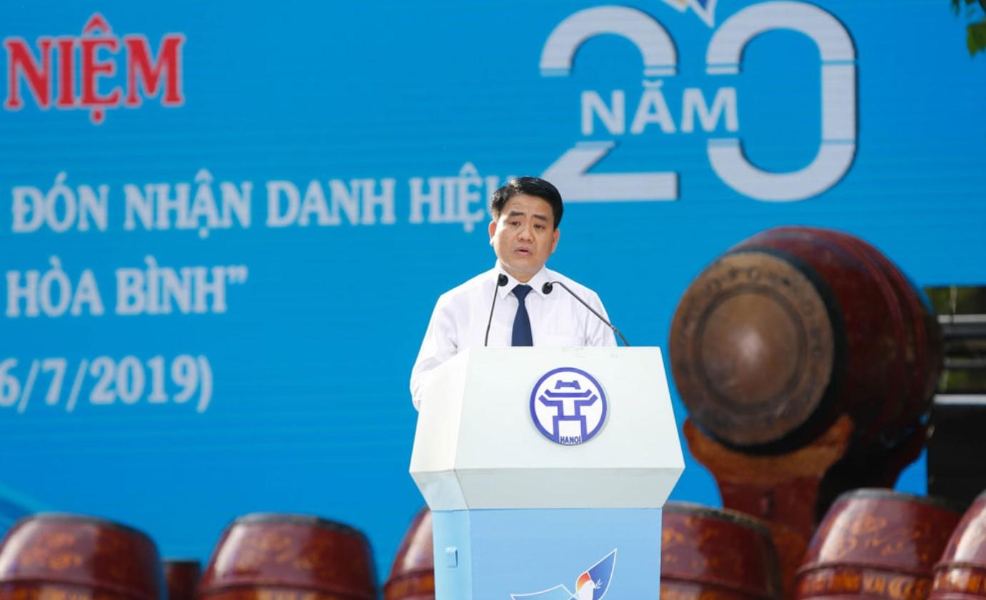 Chủ tịch UBND TP Hà Nội Nguyễn Đức Chung phát biểu.