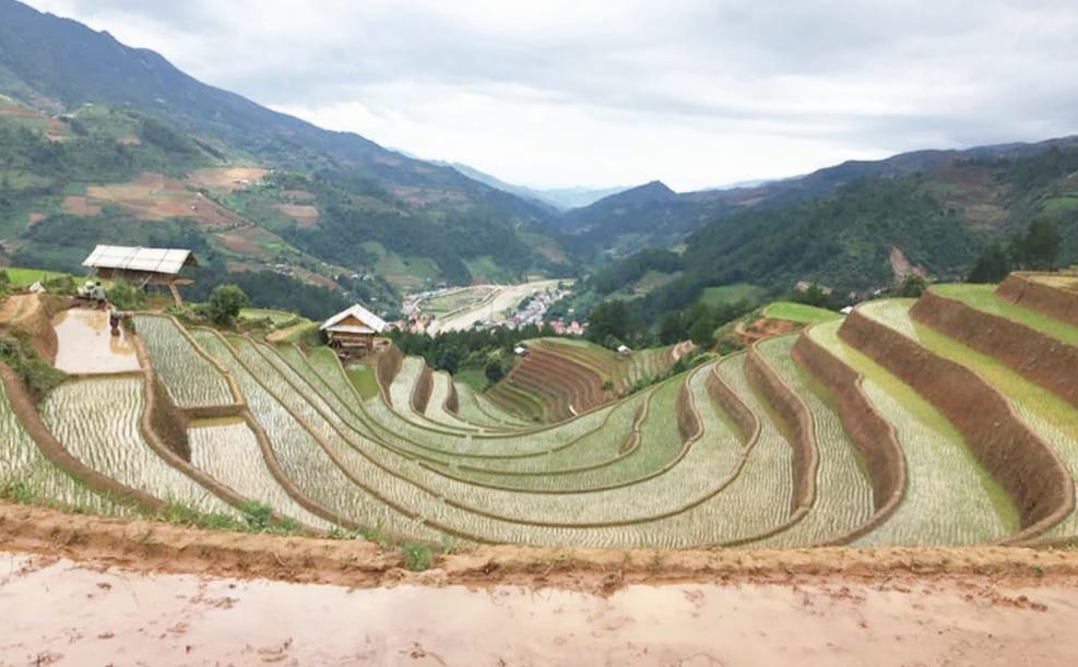 """Du khách đến """"Hello Mu Cang Chai Homestay"""" sẽ được trải nghiệm phong cảnh đẹp của vùng cao Yên Bái."""
