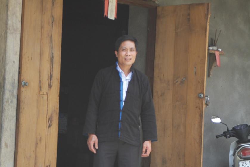 Thầy cúng Lý Văn Giang, Người có uy tín của thôn Bình Dương.