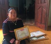 Bà Rơ Châm Phyal, Người có uy tín tiêu biểu làng Tung Breng, xã Ia Krái, huyện Ia Grai (Gia Lai).