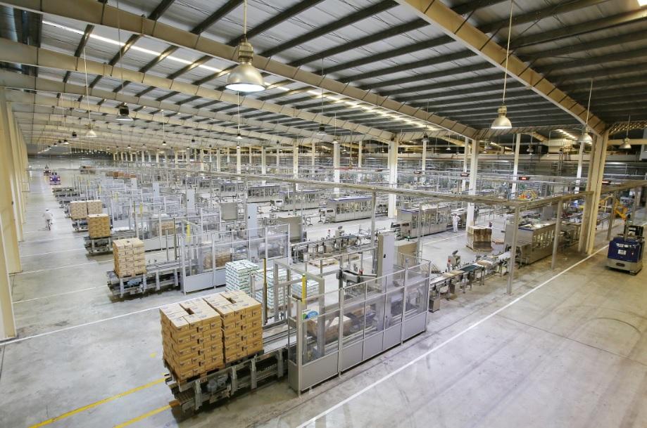 Một góc của siêu nhà máy sữa Việt Nam của Vinamilk tại Bình Dương, có công suất lên đến 800 triệu lít/năm.