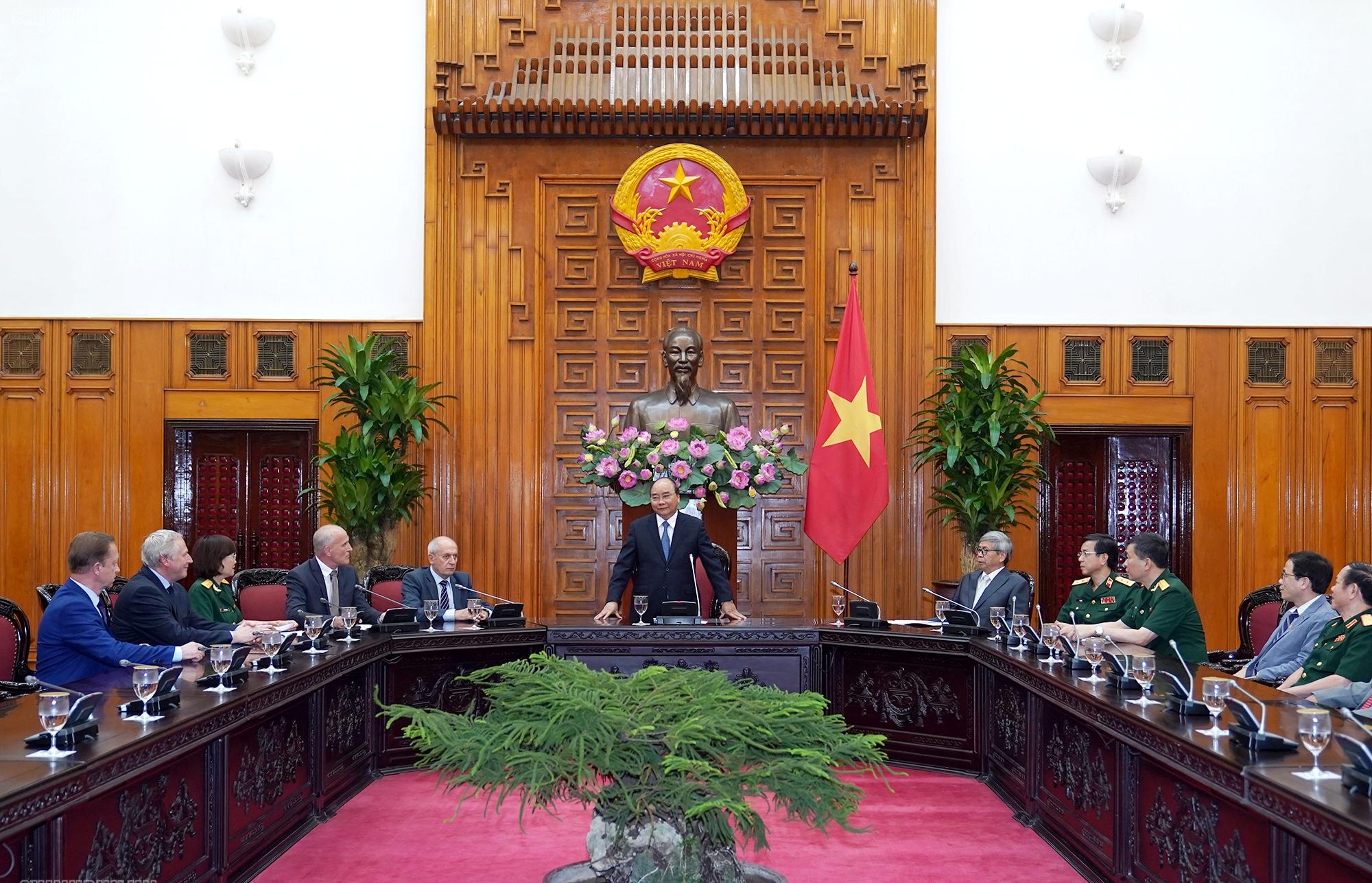 Thủ tướng Nguyễn Xuân Phúc phát biểu tại cuộc làm việc với Hội đồng Khoa học Việt Nam và Liên bang Nga.