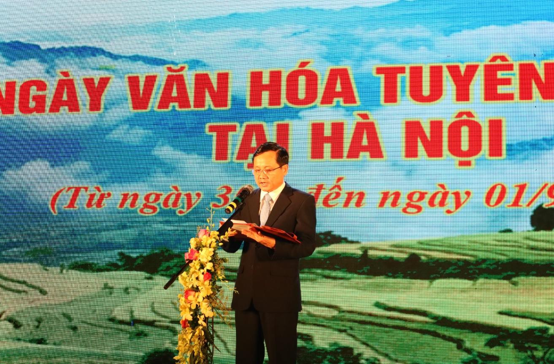 Ông Nguyễn Thế Giang, Phó Chủ tịch UBND tỉnh Tuyên Quang phát biểu khai mạc