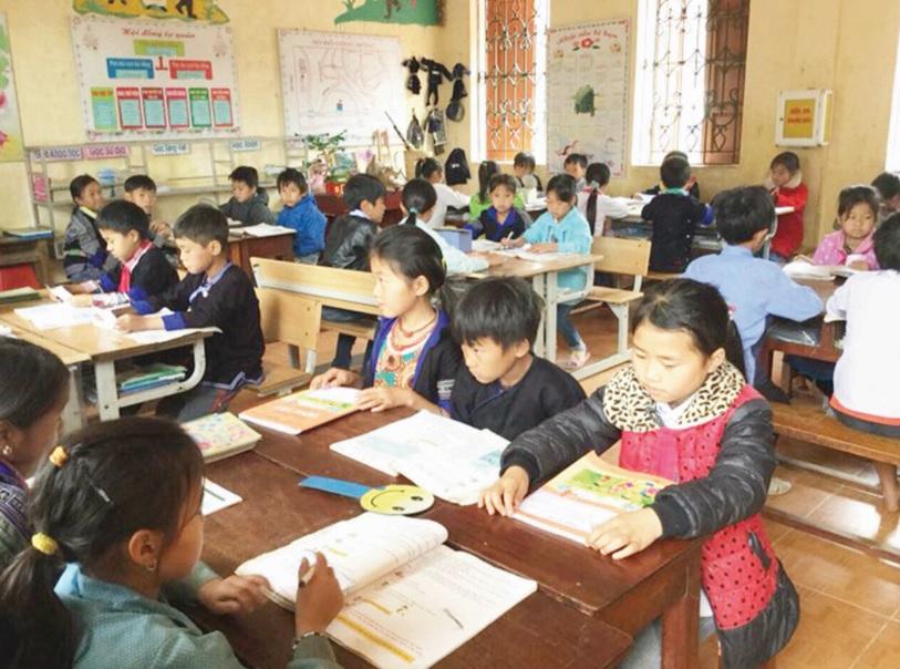 Tăng cường tiếng Việt cho học sinh DTTS tại Trường Phổ thông Dân tộc bán trú Tiểu học và Trung học cơ sở xã Chế Cu Nha, huyện Mù Cang Chải (Yên Bái).