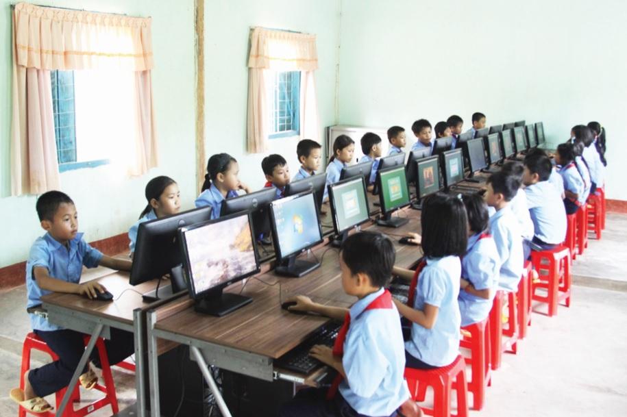 Cơ sở vật chất phục vụ công tác giáo dục đào tạo ở Mo Rai được quan tâm, đầu tư. Ảnh TL