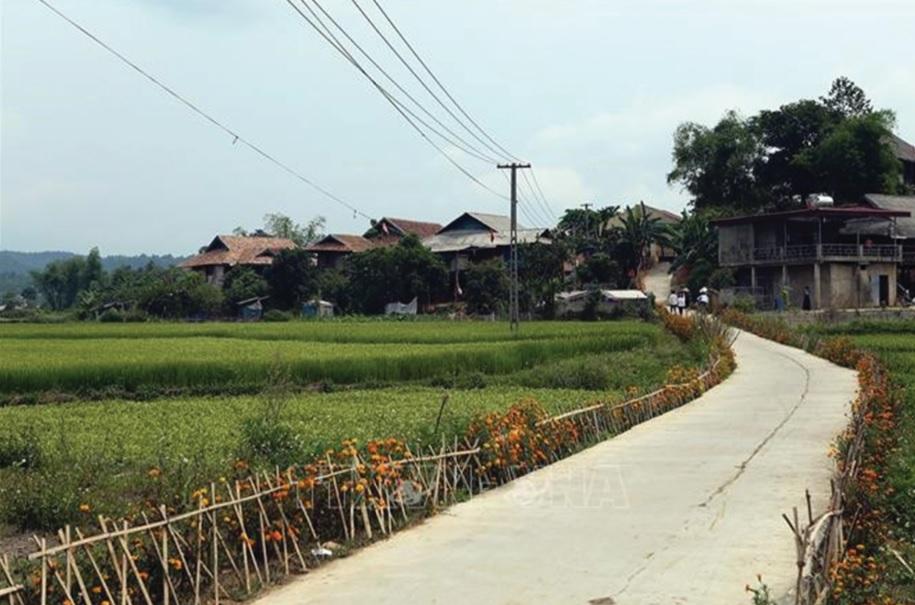 Xã Mường Phăng, tỉnh Điện Biên đạt chuẩn nông thôn mới.