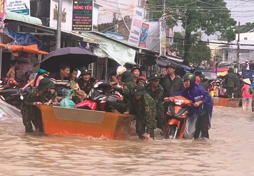 Cuộc sống của người dân đảo Ngọc bị ảnh hưởng nghiêm trọng sau trận ngập lụt.