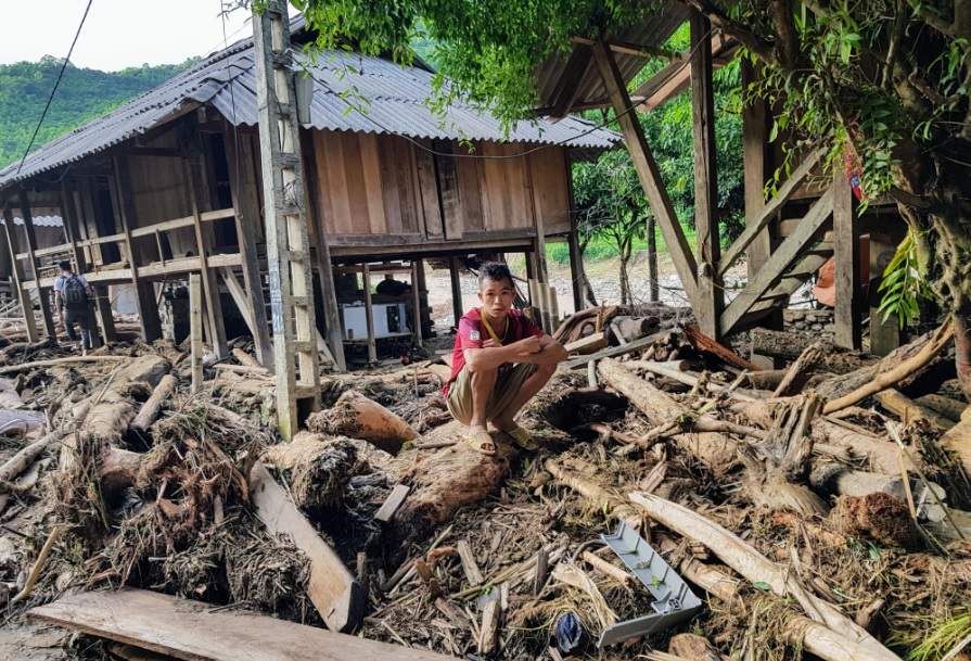 Bản Sa Ná, xã Na Mèo là địa phương của Thanh Hóa bị thiệt hại nặng nề nhất sau mưa lũ.